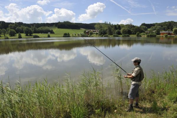 Pêche au Lac des Dronières à Cruseilles